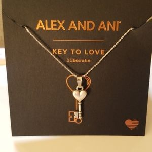 Alex and Ani key to love necklace